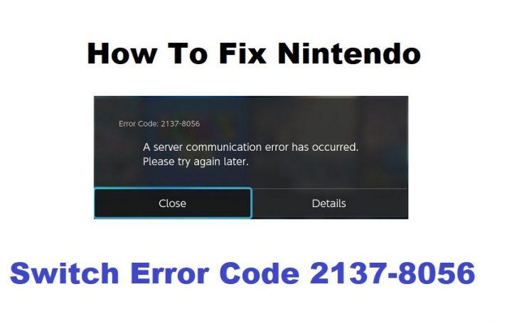 Fix Switch Error Code 2137-8056