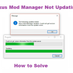 Nexus Mod Manager Not Updating